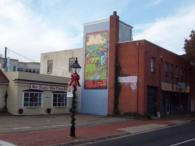 Mural by Miranda Reynolds, local artist
